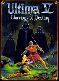 Box art for Ultima V, featuring the Shadowlords. Via Wikipedia.