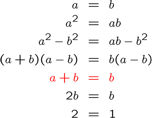 2equals1error