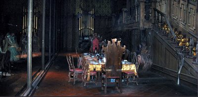 Optics in the haunted mansion skulls in the stars for Haunted dining room ideas