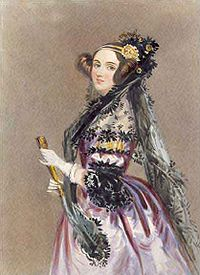 Ada Lovelace, 1840.  Via Wikipedia.