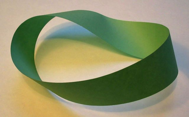 A paper Mobius strip.