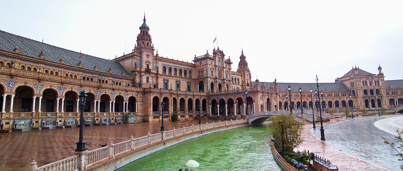 An American in Spain, part 7: the Plaza de España, Seville  Skulls in the Stars