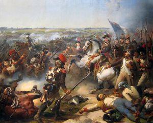 Bataille de Fleurus, by Jean-Baptiste Mauzaisse.  Note the balloon in the background.  (Via Wikipedia.)