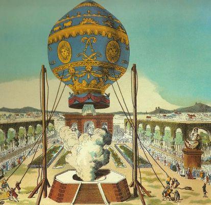 The first untethered balloon flight, November 21, 1789.