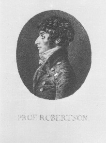 Portrait of Robertson (also known as Stephan Kaspar Robertson), c. 1801.  (via bildindex)