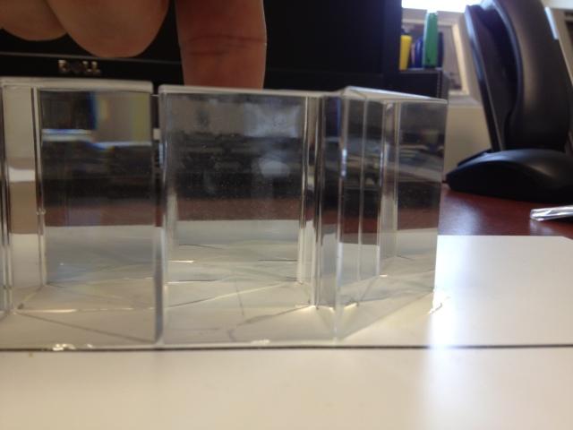 A finger inside the prism cloak -- not visible!