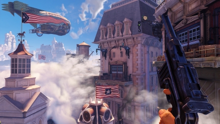 The beautiful but spiritually rotting city of Columbia.  Via Bioshock Infinite official site.