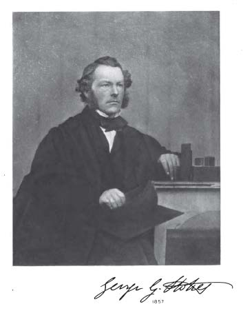 Stokes in 1857, from the frontspiece of his memoir and correspondence.