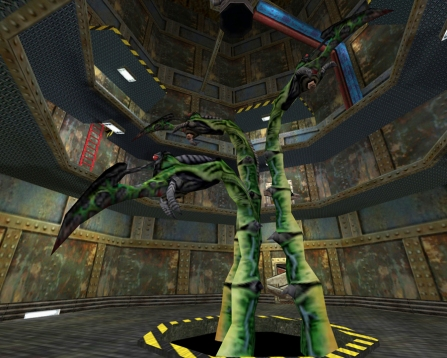 "The ""blast pit tentacles,"" for lack of a better name, which require a cool head and ingenuity to defeat. Via Half-Life Wiki."