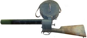 Marey's ominous-looking photographic gun.  Photo via Wikipedia.