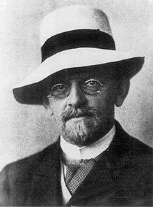 David HIlbert in 1912 (via Wikipedia).