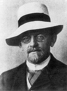 David HIlbert in 1912 (via Wikipedia).