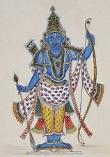 Image of Lord Rama, looking very non-cylindrical.  Via Wikipedia.