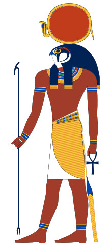 A lovely depiction of Ra, via Wikipedia.