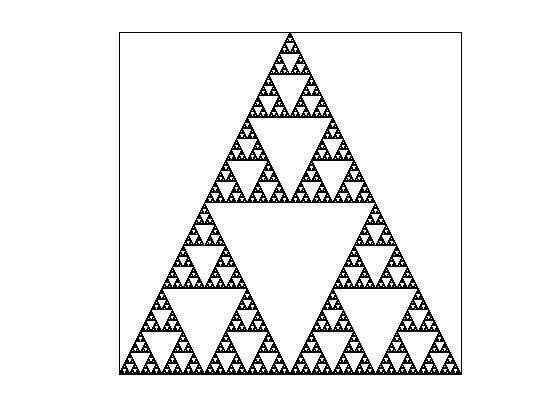 A classic Sierpinski triangle.