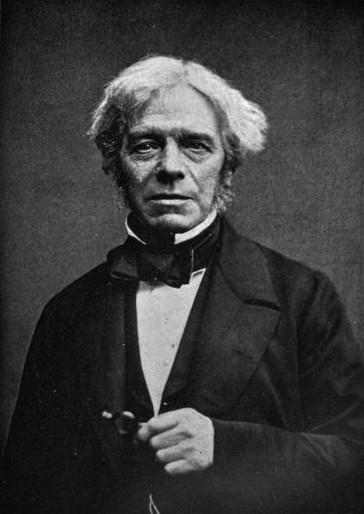 Michael Faraday, around 1861, via Wikipedia.
