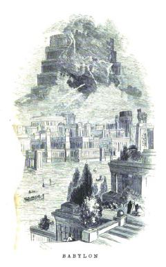 The Hanging Gardens, from an 1854 book.