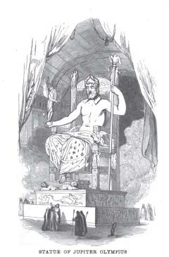 The Statue of Zeus, as imagined in an 1854 book.