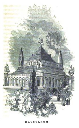 The Mausoleum, as imagined in an 1854 book.
