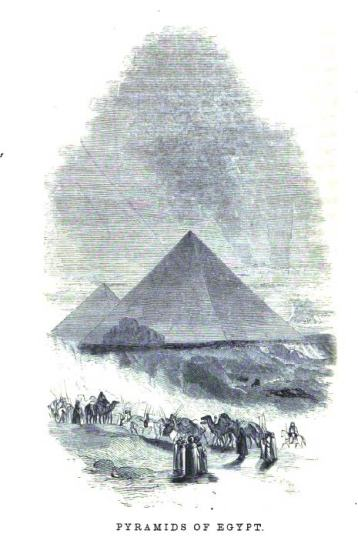 The pyramids, from an 1854 book.