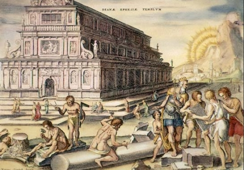 Heemskerck's imagining of the Temple of Artemis.