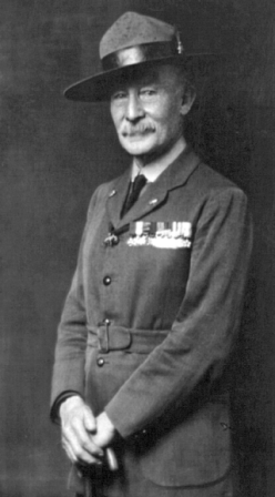 Robert Baden-Powell, first chief Scout (via Wikipedia).