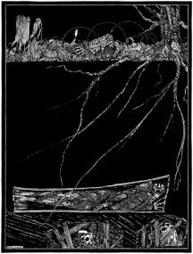 Image of The Premature Burial by Harry Clarke, published in a 1916 edition of Poe's works.  Via Wikipedia.