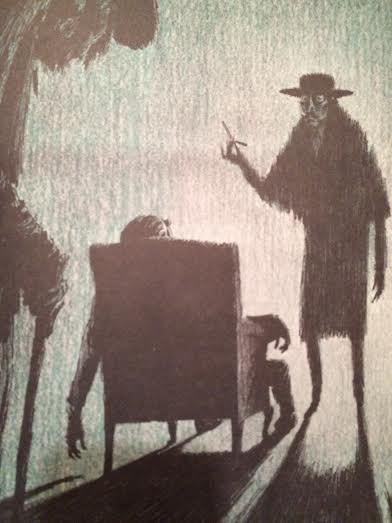 Illustration by Fred Banbery.  This image haunted me, in a good way, when I was a kid.