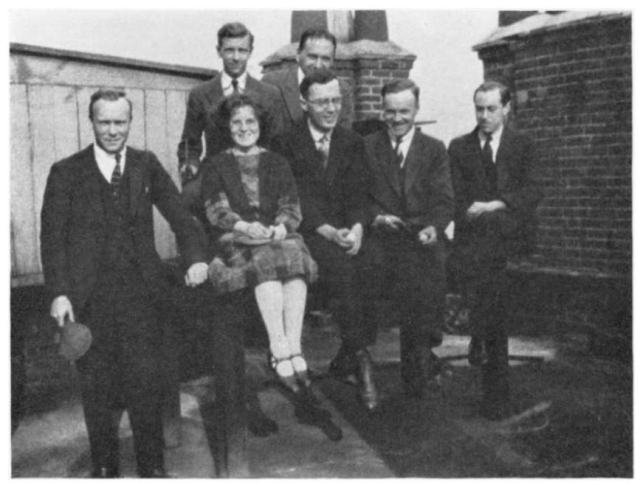 Kathleen Yardley with her fellow students, via her Biographical Memoir.