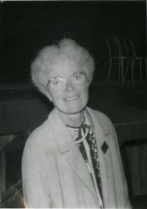Kathleen Lonsdale, in 1968, via Wikipedia.