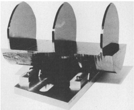 Photograph of a Bonse-Hart interferometer.