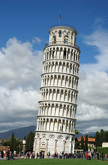 The Leaning Tower of Pisa, the site of Galileo's alleged experiment.
