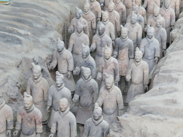 Detail of one formation of Terracotta Warriors.