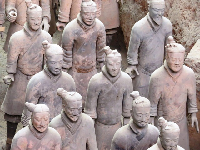 Close up of a group of Warriors.