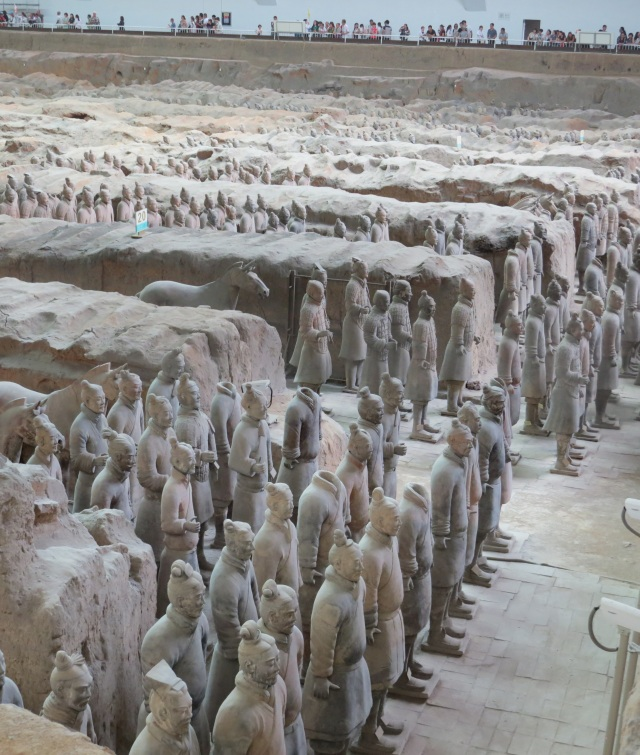 Terracotta Army, a side view.