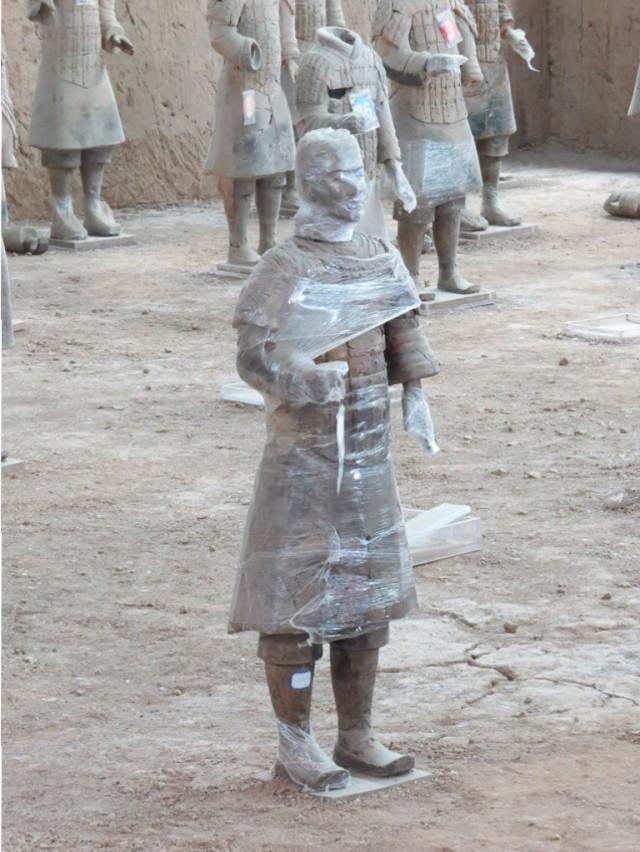 Warrior under wraps.