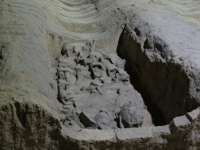 Pit 2 remains of a battle.