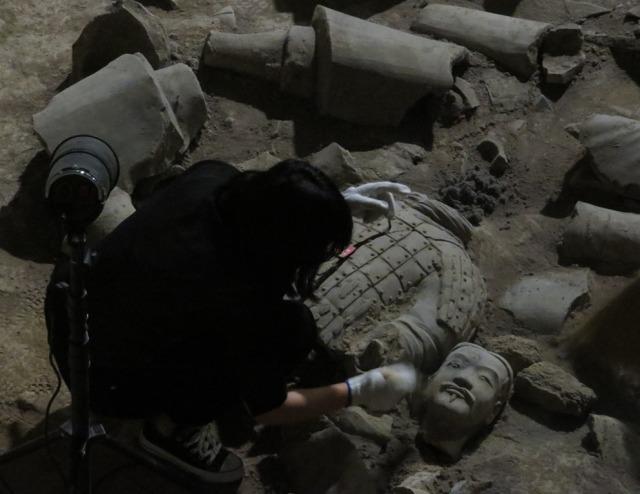 Warrior excavation in progress, photo 1.