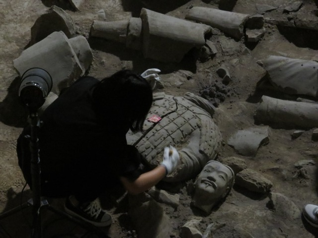 Warrior excavation in progress, photo 2.