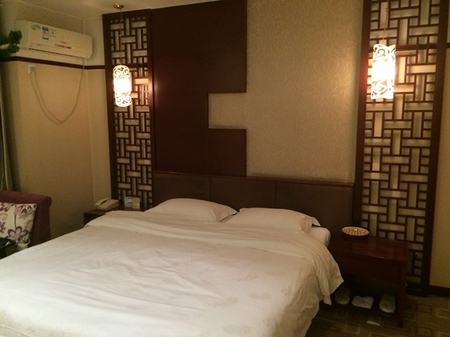 The bedroom section of the suite.