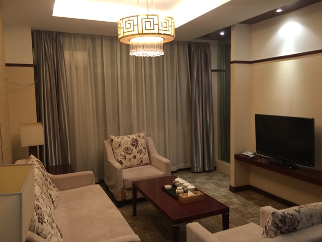 The living area of the suite.