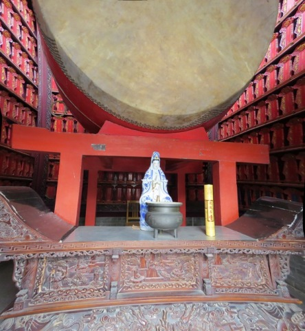 Interior of the drum tower.