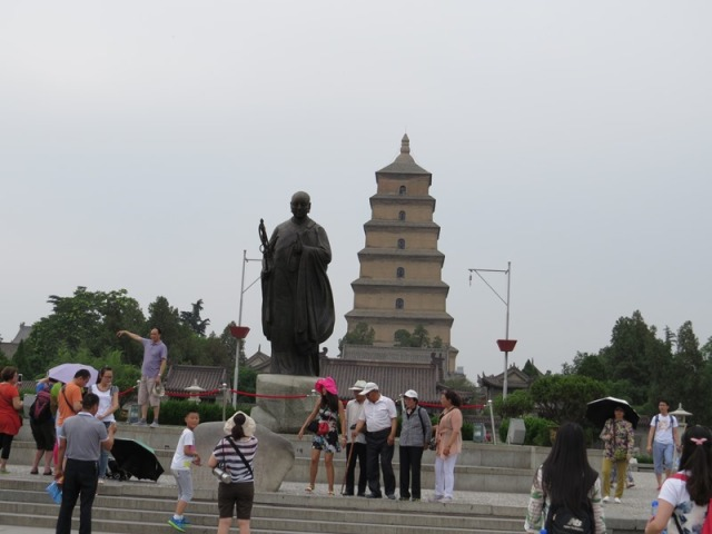 Front of the Giant Wild Goose Pagoda.