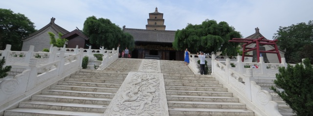 Closer look at the stairs to the temple complex.