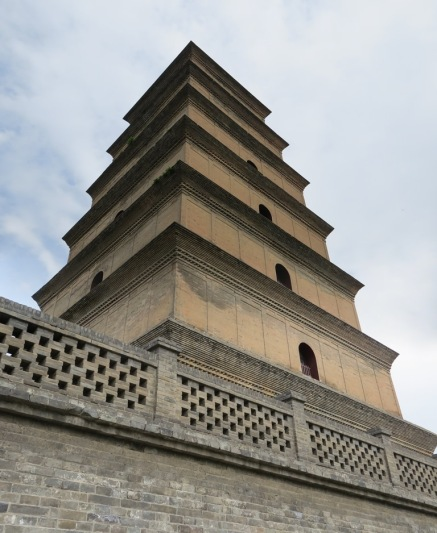 The Giant Wild Goose Pagoda, from right below.