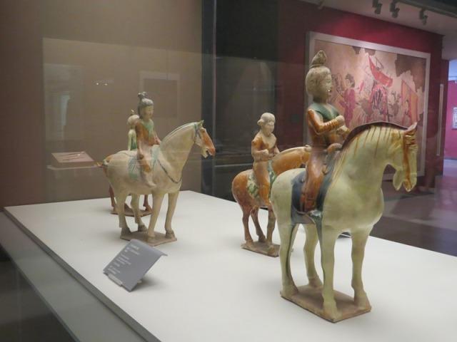 Tri-colored lady riders.