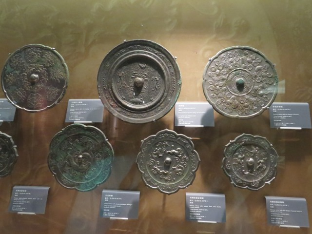 Bronze mirrors.