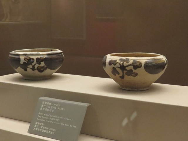 Pair of porcelain bowls, actually excavated at the West Market.
