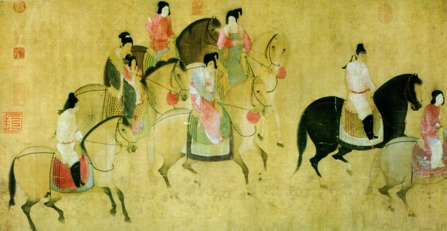 Spring Outing of the Tang Court, by Zhang Xuan.