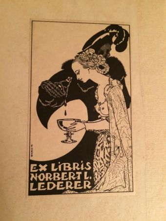 "Bookplate for my copy of ""Not At Night."""